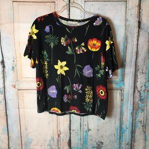 Zara Floral Shirt Euc